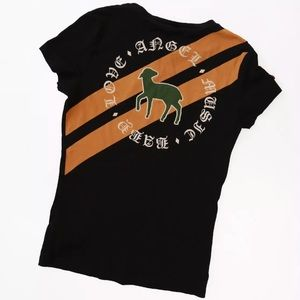 L.A.M.B. Gwen Stefani Black Patches Shirt S